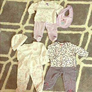 Bundle of little me 6 months outfits